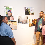 Keyla Ryland,  Lee Morris, Mercides Daley-Palmer.  Photo by Alfredo Flores. Sasha Brue Youthworks supporter thank you party. Addison Ripley Fine Art. November 8, 2018 .dng