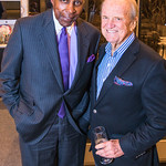Vernon Jordan, George  Stevens, Photo by Alfredo Flores. Sasha Brue Youthworks supporter thank you party. Addison Ripley Fine Art. November 8, 2018