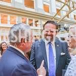 Sebastian Gorka, Sean Spicer Book Launch, The Briefing, Trump Hotel, July 26, 2018.  Photo by Ben Droz.