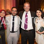 Zaina Muqbel, Ahmed Jadallah, Kelley James Clark, Farah Kilani, Photo by Jay Snap | LaDexon Photographie, Templeton Prize Ceremony, Washington National Cathedral, November  13, 2018