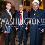 Salah Alabbadi, Hussein Rawajdi, Abdim Nasir, Photo by Jay Snap | LaDexon Photographie, Templeton Prize Ceremony, Washington National Cathedral, November  13, 2018