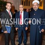 Salah Alabbadi, Hussein Rawajdi, Abdim Nasir, Photo by Jay Snap | LaDexon Photographie, Templeton Prize Ceremony, Washington National Cathedral, November  13, 2018