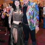 "Laine Shakerdge, Mike Caggiano. Photo by Tony Powell. ""The Art of Burning Man"" Opening. Renwick Gallery. March 29, 2018"