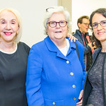 Myrna Blyth, Nancy LeaMond, Tara Bahrampour. Photo by Alfredo Flores. What They Had reception and screening. National Archives William G. McGowan Theater. October 17, 2018