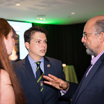 Jennifer Boyle, Congressman Brendan Boyle, Richard Schiff. Photo by Bruce Allen. Young Leaders Halfway to St. Patricks Day. 9/14/18