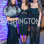 Sheida Gholani, Aya Harb, Joyce Eid . Photo by Alfredo Flores. 2019 Autism Awareness Gala. The Anthem. November 12, 2019.