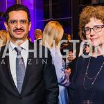 Khalid Al-Khater, Eugenia Davis, Photo by Alfredo Flores. 2019 Autism Awareness Gala. The Anthem. November 12, 2019.