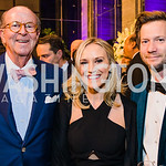 Robert Crowe, Crystal Bowyer, Troy Pierce.  Photo by Alfredo Flores. 2019 Autism Awareness Gala. The Anthem. November 12, 2019.