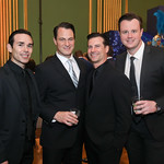 Those Guyz From Jersey Boys Dominic Scaglione Jr, Matt Bogart, Dominic Nolfi, Quinn VanAntwerp. Photo by Tony Powell. 2019 Blue Hope Bash. Mellon Auditorium. November 2, 2019