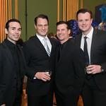 Those Guyz From Jersey Boys Dominic Scaglione Jr, Matt Bogart, Dominic Nolfi, Quinn VanAntwerp. Photo by Tony Powell. 2019 Blue Hope Bash. Mellon Auditorium. November 2, 2019