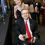 "Dodie McCracken, Sen. Mark Kirk. Photo by Tony Powell. 2019 Make A WIsh ""Evening of Wishes."" Reagan Building. April 6, 2019"