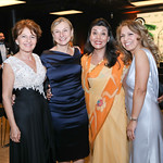 Lauritta Jaeger, Monika Langer, Gauree Thakuri, Diana Villarreal. Photo by Tony Powell. 2019 Mentor Foundation Gala. House of Sweden. November 15, 2019