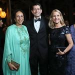 Oman Amb. Hunaina Al-Mughairy, Former Speaker Paul Ryan and Jan Ryan. Photo by Tony Powell. 2019 Meridian Ball. October 25, 2019