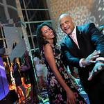 Julia Richardson, Rep. Andre Carson. Photo by Tony Powell. 2019 WHCD Qatar and Washington Diplomat Pre-Party. Institute of Peace. April 26, 2019