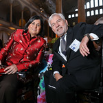 Society for Science & the Public President and CEO Maya Ajmera, Rob Quartel. Photo by Tony Powell. 2019 Regeneron Science Awards. Building Museum. March 12, 2019