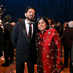 Siddhartha Mukherjee, Society for Science & the Public President and CEO Maya Ajmera. Photo by Tony Powell. 2019 Regeneron Science Awards. Building Museum. March 12, 2019