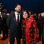 Siddhartha Mukherjee, Society for Science & the Public President and CEO Maya Ajmera. Photo by Tony Powell. 2019 Regeneron Science Awards. Building Museum. March 12, 2019