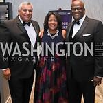 Dan Soto, Natalie Brown, Kevin Armstrong. Photo by Tony Powell. 2019 Thurgood Marshall 32nd Anniversary Awards Gala. October 19, 2019