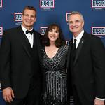 Rod Gronkowski, Darlene Barrett, Gordy Gronkowski. Photo by Tony Powell. 2019 USO Gala. Omni Shoreham. March 26, 2019