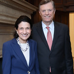 Sen. Olympia Snowe, John McKernan. Photo by Tony Powell. 2019 Women Making History Awards. Carnegie Institution for Science. April 3, 2019