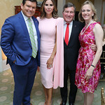 Bret and Amy Baier, Amb. Charles Rivkin and Susan Tolson. Photo by Tony Powell. Alliance Francaise 70th Anniversary. April 11, 2019