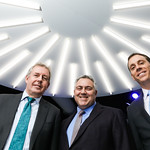 Britain Amb. Sir Kim Darroch, Australia Amb. Joe Hockey, Jim VandeHei. Photo by Tony Powell. Axios 2-Year Anniversary. The Showroom. January 31, 2019