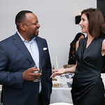 Roger Fairfax, Christine Harrison. Photo by Tony Powell. 2019 BGCA Spring Dinner. Metier. May 15, 2019