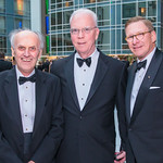 Joe Burns, Bob Flanagan, Scott Pastrick. Photo by Alfredo Flores. Catholic Charities Gala 2019. Marriott Marquis. April 5, 2019