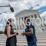Xije Bastida, Activists and Members of Congress gather at the Supreme Court, with Plaintiffs from Juliana v. United States, as part of the Global Climate Strike.  September 18, 2019.  Photo  ...