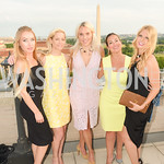 Ekaterina Flis, Lisa Fair, Heather Louise Finch, Sara Patricia Jaffe, FAIR Girls, Rooftop Reception, The Willard, June 6, 2019, Photo by Ben Droz.