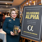 "Hilda Ochoa Brillembourg. Photo by Tony Powell. Hilda Ochoa Brillembourg ""Delivering Alpha"" Book Party. Cafe Milano. March 11, 2019"