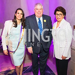 Kelsey Kats, Kevin  Donnellan , Treasurer of the United States Jovita Carranza . Photo by Alfredo Flores. Rightfully Hers American Women and the Vote opening reception. National Archives. Ma ...