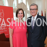 "Author Susan Solomont, Spain Amb. Santiago Cabanas. Photo by Tony Powell. ""Lost & Found in Spain"" Book Party. May 28, 2019"
