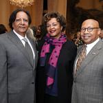 Ray Mahmood, Marcia Jackson and Sec. Alphonso Jackson. Photo by Tony Powell. 2019 Meridian New Ambassadors Reception. January 15, 2019