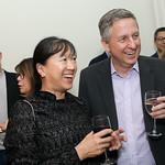 "May Liang Lintott and Jim Lintott. Photo by Tony Powell. Neal Katyal ""Impeach"" Book Party. Glover Reiter Residence. November 23, 2019"