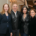 "Juleanna Glover, Jonathan Silver, Mandy Grunwald, Melissa Moss. Photo by Tony Powell. Neal Katyal ""Impeach"" Book Party. Glover Reiter Residence. November 23, 2019"