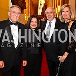 Rep. Byron Dorgan, Rhoda and Dan Glickman, Kim Dorgan. Kennedy Center Spring Gala. Photo by Tony Powell. April 3, 2011