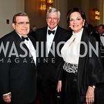 Morton Bender, Tim Coughlin, Grace Bender. Kennedy Center Spring Gala. Photo by Tony Powell. April 3, 2011