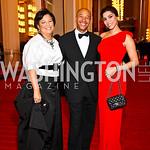 Debra Lee, Judge Thomas Motley, Reem Sadik. Kennedy Center Spring Gala. Photo by Tony Powell. April 3, 2011