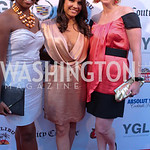 Brandis Friedman, Laura Chavez, Abby Fenton. Photo by Jersey Winchester. The Young and The Guest List Party. Long View Gallery and Rogue 24 Restaurant. May 20, 2011.