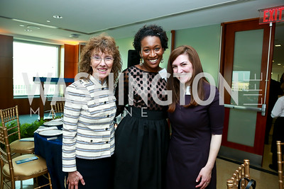 Dr. Jane Foley, Dr. Joelle Simpson, Simone Friedman Rones. Photo by Tony Powell. Milken Scholars Recognition Dinner. Elliott School, GWU. July 12, 2014