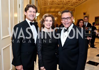 Lyndon Boozer, Merel Julia, Felix Sanchez. Photo by Tony Powell. 2014 Noche de Gala. Mayflower Hotel. October 1, 2014