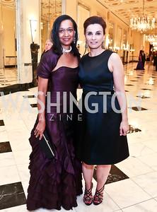 Michon Boston, Elaine Howard. Photo by Tony Powell. 2014 Noche de Gala. Mayflower Hotel. October 1, 2014