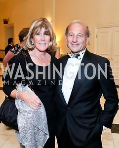 Ginny Grenham, Paul Zevnik. Photo by Tony Powell. 2014 Noche de Gala. Mayflower Hotel. October 1, 2014