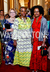 Nancy Buchcuski, Joyce Mbwette, Janet Kisyombe. Photo by Tony Powell. 2014 Vital Voices Global Leadership Awards. Kennedy Center. June 17, 2014