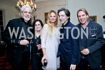 Keith Costas, Janice Moskowitz, Marguerite Thompson, Septime Webre, Marc Cipullo. Photo by Tony Powell. A Night of Arctic Cool. Norwegian Ambassador's Residence. March 17, 2014