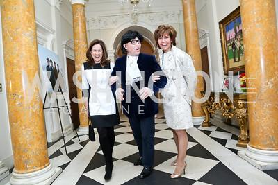Lee Satterfield, Ed Moorhouse, Capricia Marshall. Photo by Tony Powell. Beatles Tribute Party. British Ambassador's residence. February 8, 2014