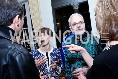 Naomi Karp, David Wessel. Photo by Tony Powell. Beatles Tribute Party. British Ambassador's residence. February 8, 2014