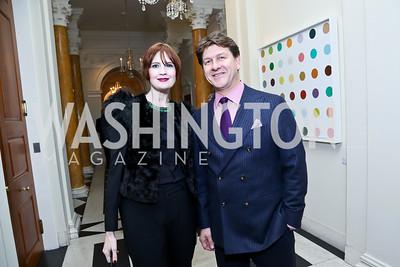 Stephanie Green, Lyndon Boozer. Photo by Tony Powell. Beatles Tribute Party. British Ambassador's residence. February 8, 2014