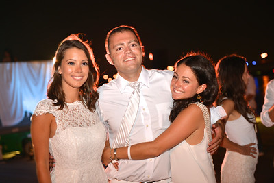 Leah Nacleau, Justin Ross, Andrea Ross, The global phenomenon secret dinner party, Diner en Blanc, attracted over 1,300 guests all wearing white.  The Yards Park, Thursday, September 4, 2014.  Photo by Ben Droz